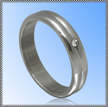 Steel Ring with zirconia